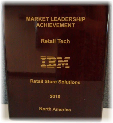 Retail Tech receives 2010 IBM Market Leadership Award. | Retail ...