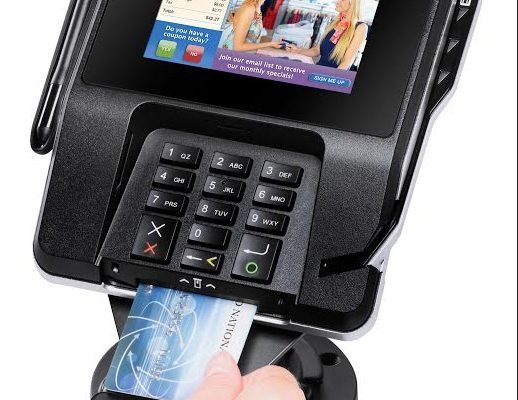 Chip reader on Verifone Machine