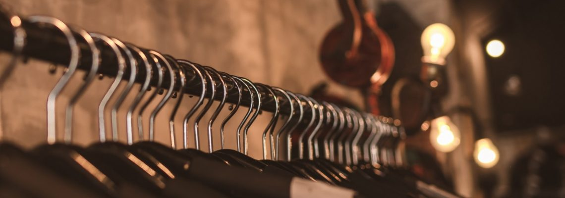 Retail photo of clothes rack